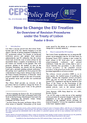 №215. How to Change the EU Treaties. An Overview of Revision Procedures under the Treaty of Lisbon Cover Image