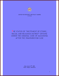 "The Status of ""Incitement of Ethnic, Racial and Religious Hatred"" Offense under the Criminal Code of Macedonia after the Vranishkovski Case"