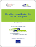 Open Government Partnership. Calls for Participation Cover Image