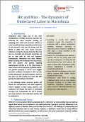 Hit and Miss - The Dynamics of Undeclared Labor in Macedonia