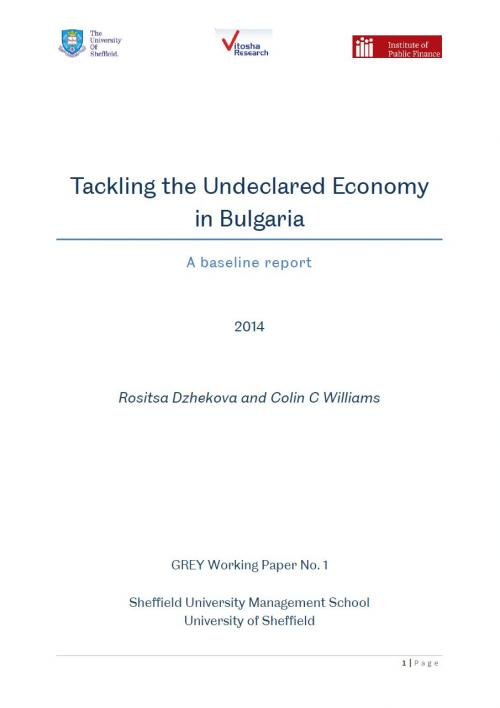 GREY Working Paper No. 1: Tackling the Undeclared Economy in Bulgaria: a Baseline Report