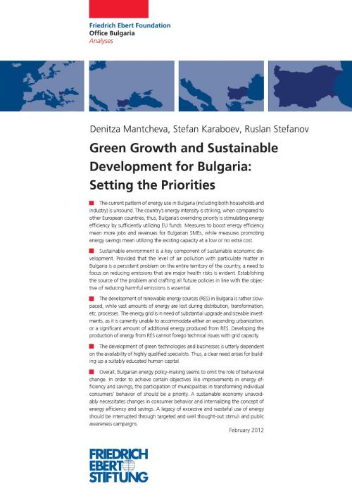 Green Growth and Sustainable Development for Bulgaria: Setting the Prioritie