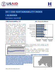2011 CSO Sustainability Index - Albania Cover Image