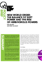 (001) NEW WORLD ORDER: THE BALANCE OF SOFT POWER AND THE RISE OF HERBIVOROUS POWERS