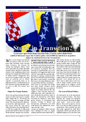 DPC BOSNIA DAILY: Croatia's Policy Toward Bosnia and Herzegovina. Stuck in Transition?