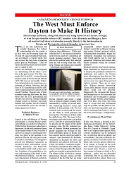 DPC BOSNIA DAILY: Catalyzing Democratic Change in Bosnia. The West Must Enforce Dayton to Make It History