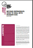 (009) BEYOND DEPENDENCE: HOW TO DEAL WITH RUSSIAN GAS Cover Image