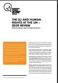 (015) THE EU AND HUMAN RIGHTS AT THE UN – 2009 REVIEW Cover Image
