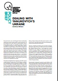 (020) DEALING WITH YANUKOVYCH'S UKRAINE Cover Image