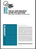 (027) THE EU AND BELARUS AFTER THE ELECTION