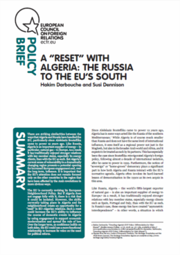 "(046) A ""RESET"" WITH ALGERIA: THE RUSSIA TO THE EU'S SOUTH"