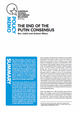 (050) THE END OF THE PUTIN CONSENSUS