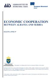 Economic Cooperation between Albania and Serbia