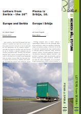 Europe and Serbia. Letters from Serbia - the 16th Cover Image