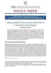 №156: Adapting NATO's Conventional Force Posture in the Nordic-Baltic Region