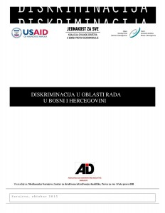 Discrimination in the area of labour in Bosnia and Herzegovina Cover Image