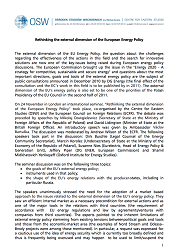 Rethinking the external dimension of the European Energy Policy