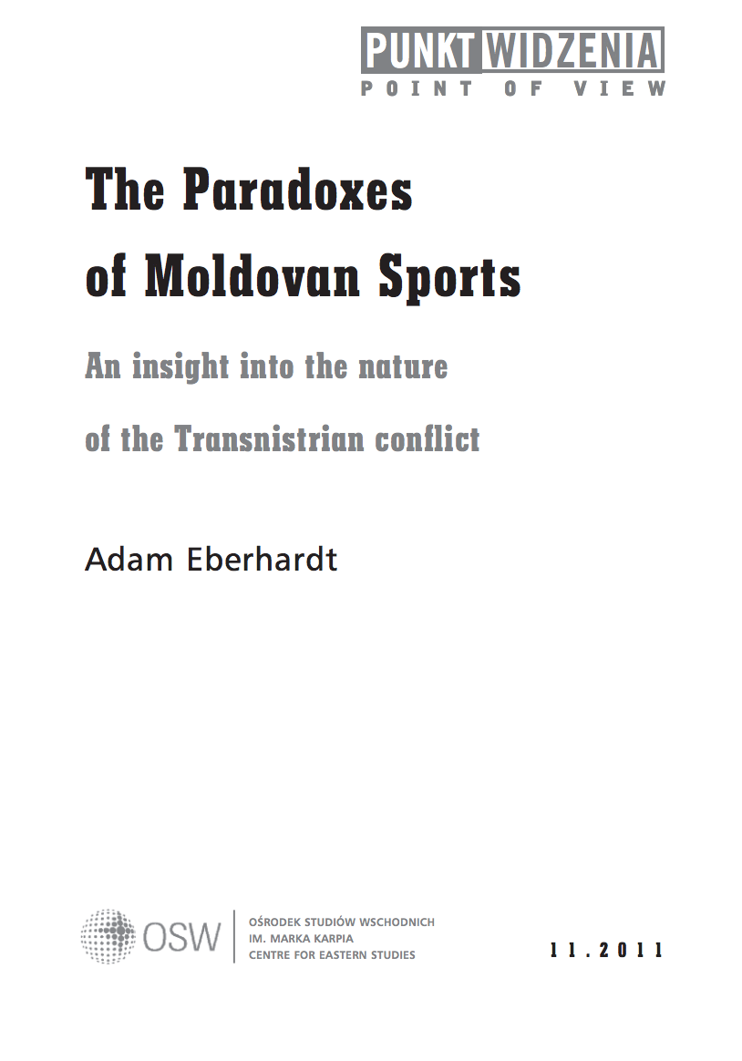 The Paradoxes of Moldovan Sports. An insight into the nature of the Transnistrian conflict