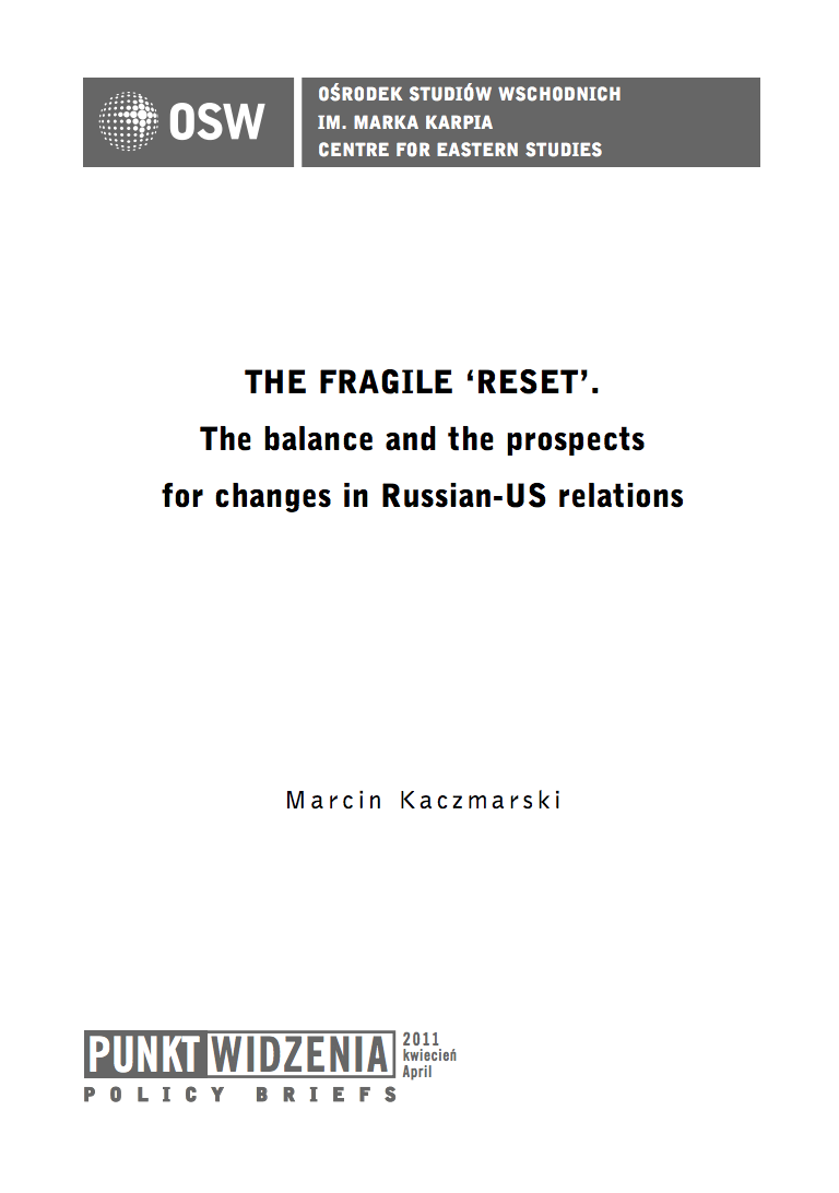The fragile 'reset'. The balance sheet and the prospects for changes in Russian-US relations
