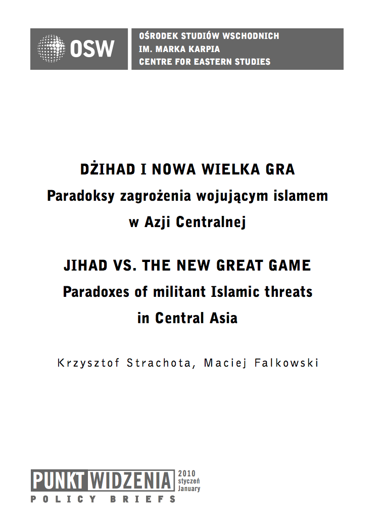 Jihad vs. The New Great Game. Paradoxes of militant Islamic threats in Central Asia Cover Image