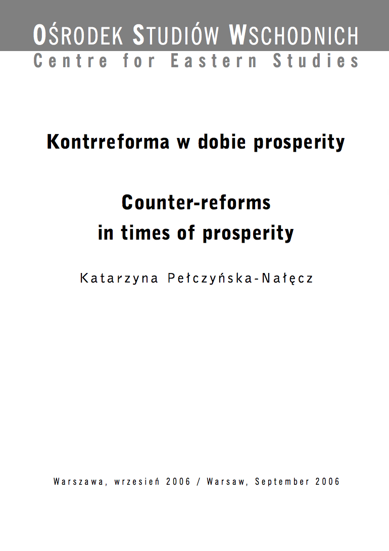 Counter-reforms in times of prosperity