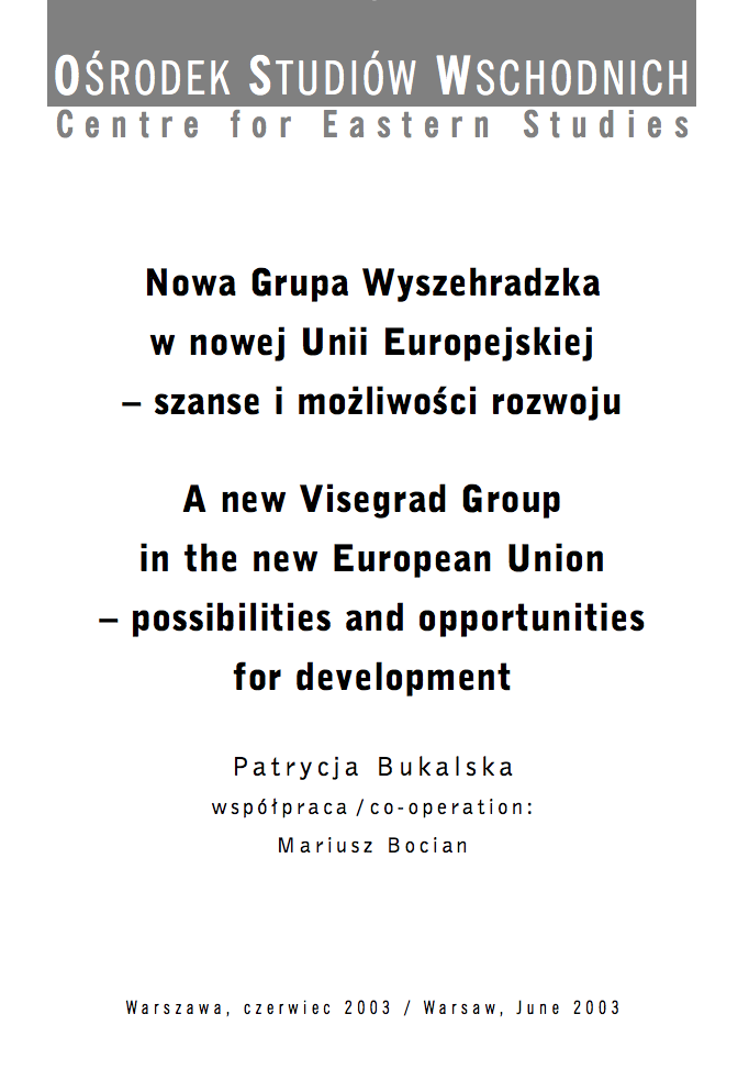 A new Visegrad Group in the new European Union - possibilities and opportunities for development
