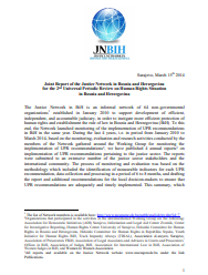 Joint Report of the Justice Network in Bosnia and Herzegovina for the 2nd Universal Periodic Review on Human Rights Situation in Bosnia and Herzegovina