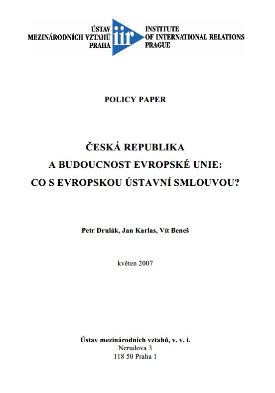 Czech Republic - The future of the European Union: What to do with the European Constitutional Treaty? Cover Image
