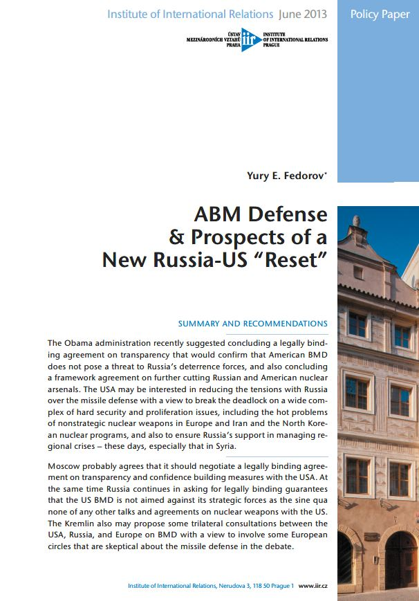 "ABM Defense & Prospects of a New Russia-US ""Reset"""