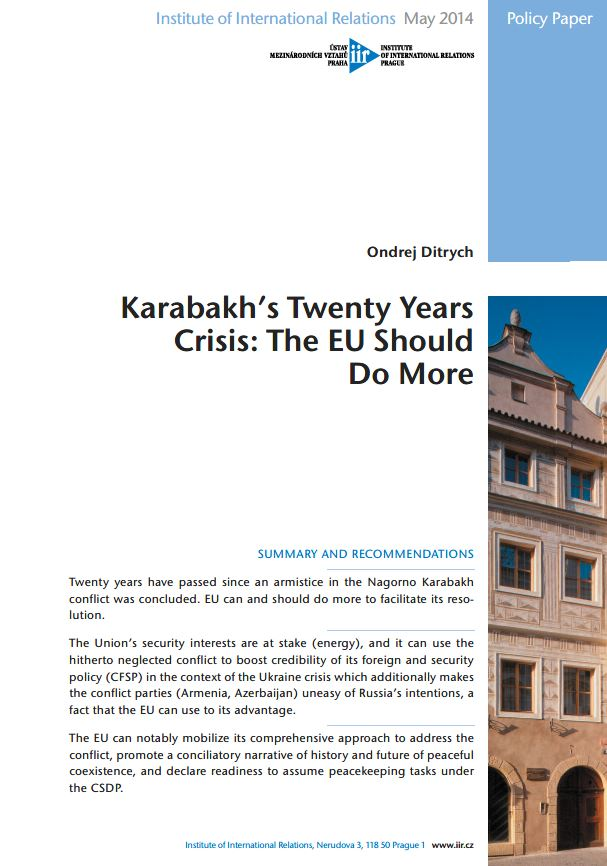 Karabakh's Twenty Years Crisis: The EU Should Do More