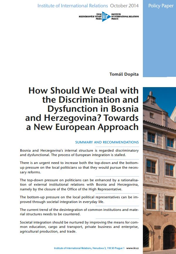 How Should We Deal with the Discrimination and Dysfunction in Bosnia and Herzegovina? Towards a New European Approach
