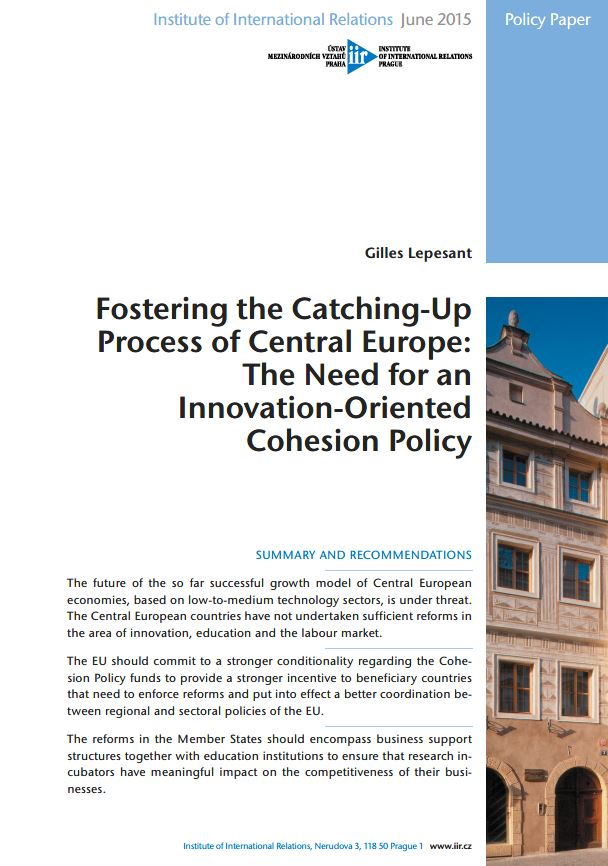 Fostering the Catching-Up Process of Central Europe: The Need for an Innovation-Oriented Cohesion Policy