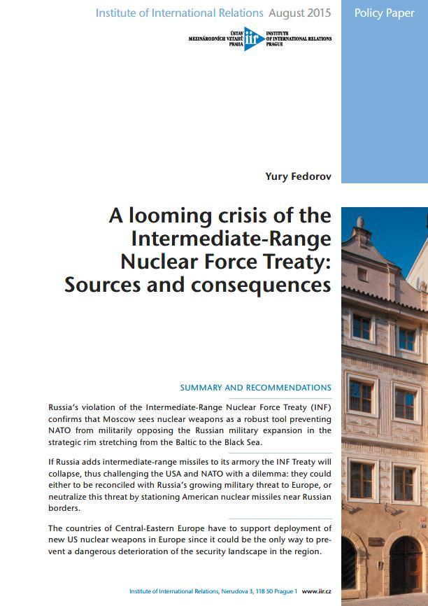 A looming crisis of the Intermediate-Range Nuclear Force Treaty: Sources and consequences
