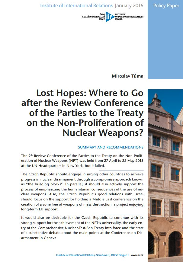 Lost Hopes: Where to Go after the Review Conference of the Parties to the Treaty on the Non-Proliferation of Nuclear Weapons? Cover Image