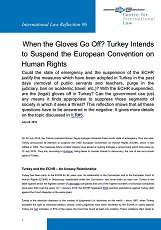 When the Gloves Go Off? Turkey Intends to Suspend the European Convention on Human Rights