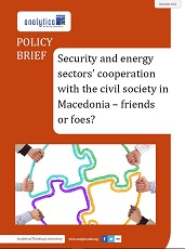 Security and energy sectors' cooperation with the civil society in Macedonia – friends or foes?