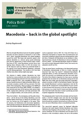 Macedonia – back in the global spotlight Cover Image