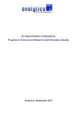 EU Approximation in Macedonia: Progress in Science and Research and Information Society
