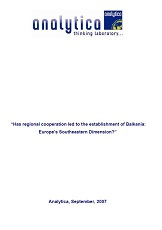 """Has regional cooperation led to the establishment of Balkania: Europe's Southeastern Dimension?"" Cover Image"
