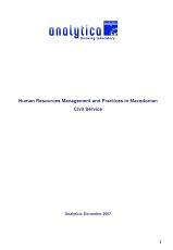 Human Resources Management and Practices in Macedonian Civil Service