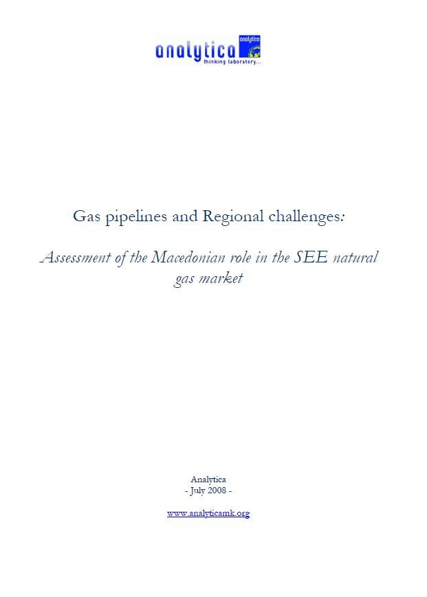 Gas Pipelines and Regional Challenges: Assessment of the Macedonian Role in the SEE Natural Gas Market