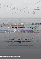 Strengthening the Role of RIA in the Policy-Making Process in Macedonia