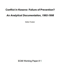 Conflict in Kosovo: Failure of Prevention? An Analytical Documentation, 1992-1998 Cover Image