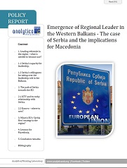 Emergence of Regional Leader in the Western Balkans - The case of Serbia and the implications for Macedonia Cover Image
