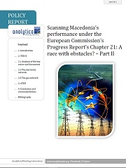 Scanning Macedonia's performance under the European Commission's Progress Report's Chapter 21: A race with obstacles? – Part II Cover Image