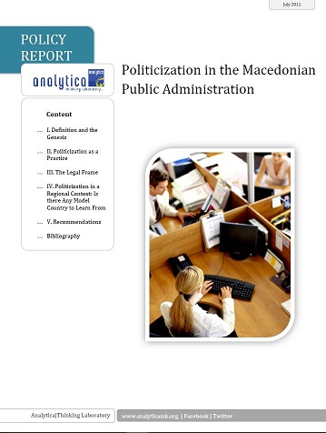 Politicization in the Macedonian Public Administration