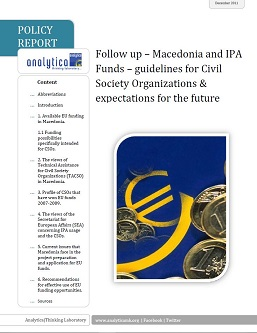 Follow up – Macedonia and IPA Funds – guidelines for Civil Society Organizations & expectations for the future