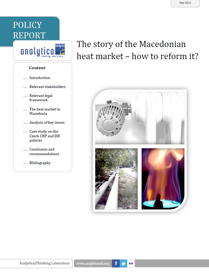 The Story of the Macedonian Heat Market – How to Reform It?