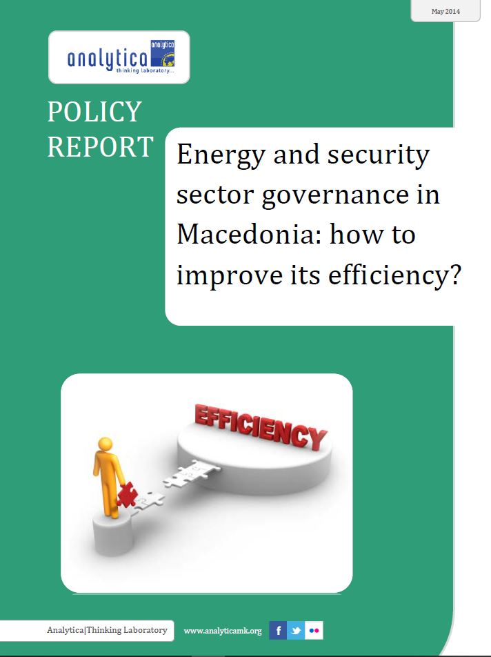 Energy and Security Sector Governance in Macedonia: How to Improve its Efficiency?