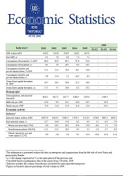 Economic Statistics AUGUST 2006. Monthly Selection of Key Socio-Economic Indicators for Moldova